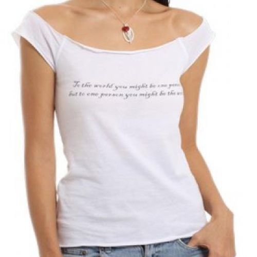 """""""To the World"""" Angels Ladies T-shirts"""