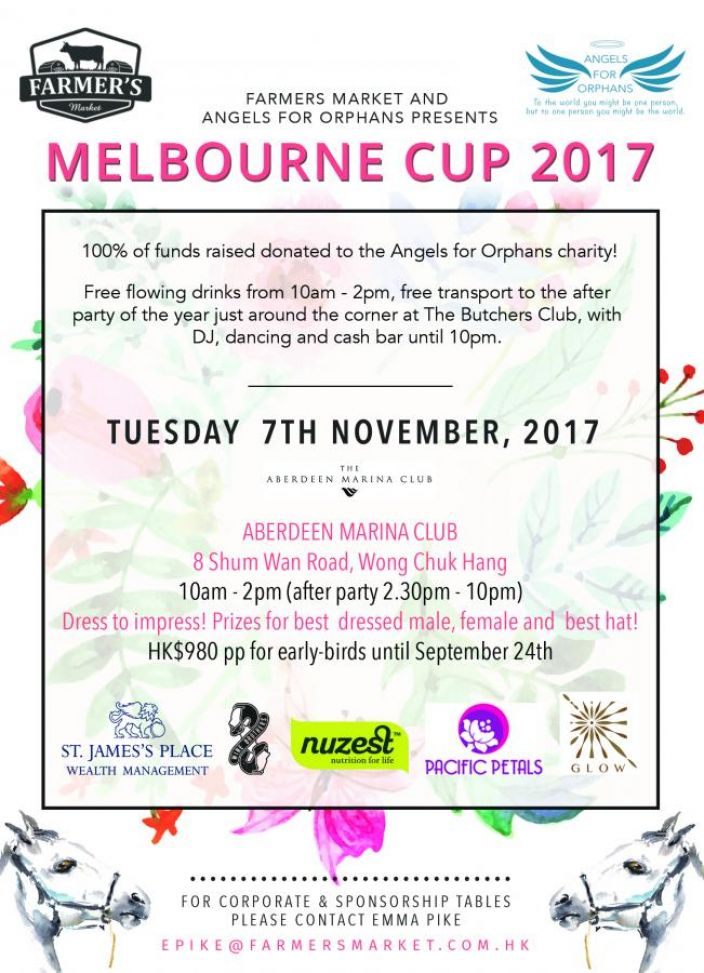Melbourne Cup 2017 hosted by Farmer's Market & Angels