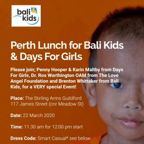 Perth Lunch for Bali Kids & Days For Girls